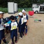 試合前円陣 4年生