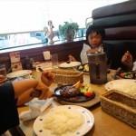 夏合宿(ステーキのドンで夕食)