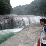 吹き割りの滝⑤