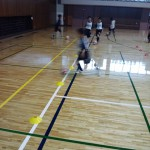 市民体育館での練習風景②