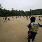 バザー開始まで城山公園で体を動かしました!